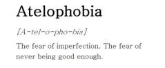 atelaphobia